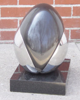 Untitled Egg Marble Sculpture 1980 14 in Sculpture - Arturo Di Modica