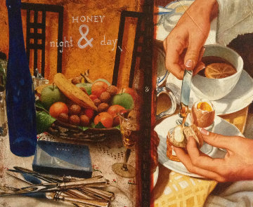 Honey Night And Day 39x39 Original Painting - Anton Molnar