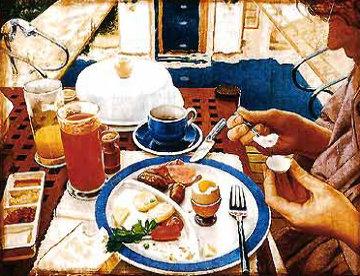 Trois Minutes a Phuket 1990 47x47 Original Painting - Anton Molnar