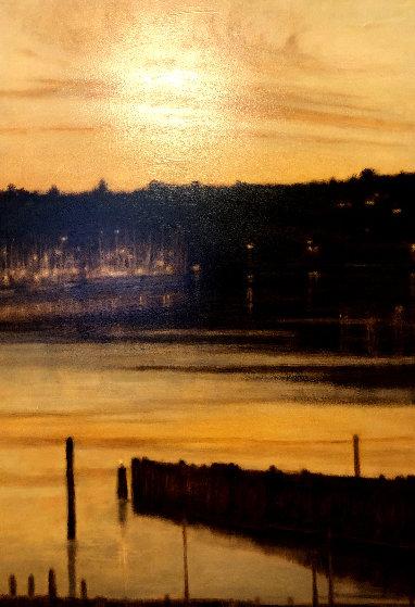 Harbor Lights 2000 58x38 Original Painting by Thomas Monaghan
