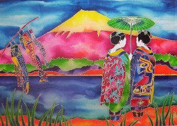 Mt Fugi Whispers 30x40 Huge Original Painting - Ron Mondz
