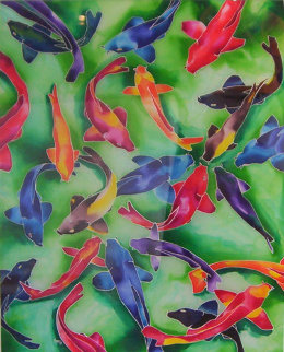 Dance of the Koi 40x30 Original Painting - Ron Mondz