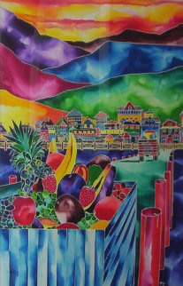 Marina Delivery 40x30 Original Painting by Ron Mondz