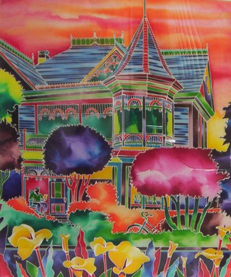 Gingerbread House 1993 40x30 Original Painting by Ron Mondz