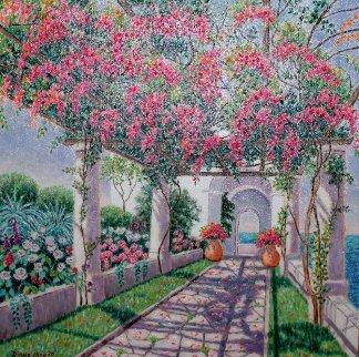 Siempre Capri 2003 20x20 Original Painting - Diane Monet