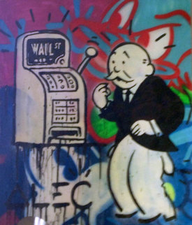 Wall Street Machine 2012 48x36 Original Painting - Alec Monopoly