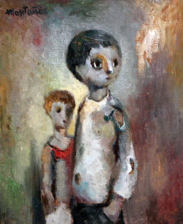 Camarades 22x18 Original Painting - Jose Montanes