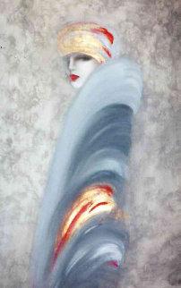 Untitled Painting 1984 41x53 Original Painting by Victoria Montesinos