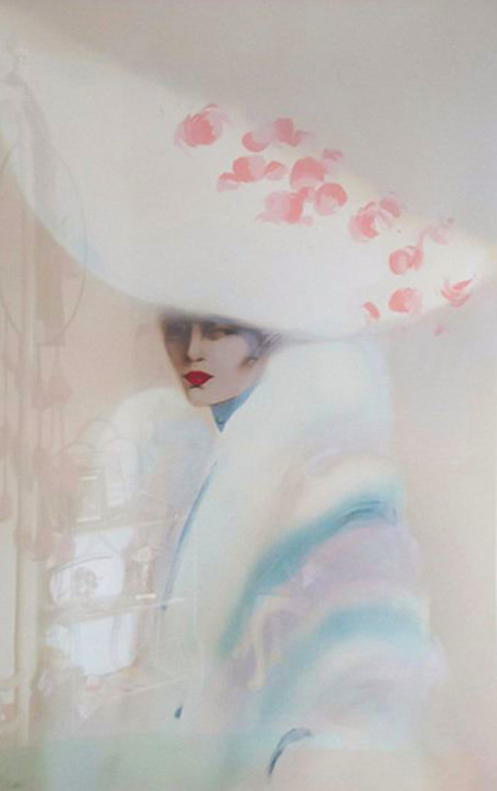 White Over White 1989  Huge 49x36 Limited Edition Print by Victoria Montesinos