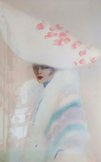 White Over White 1989 Limited Edition Print by Victoria Montesinos