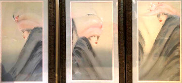 Woman Triptych  Huge Limited Edition Print - Victoria Montesinos