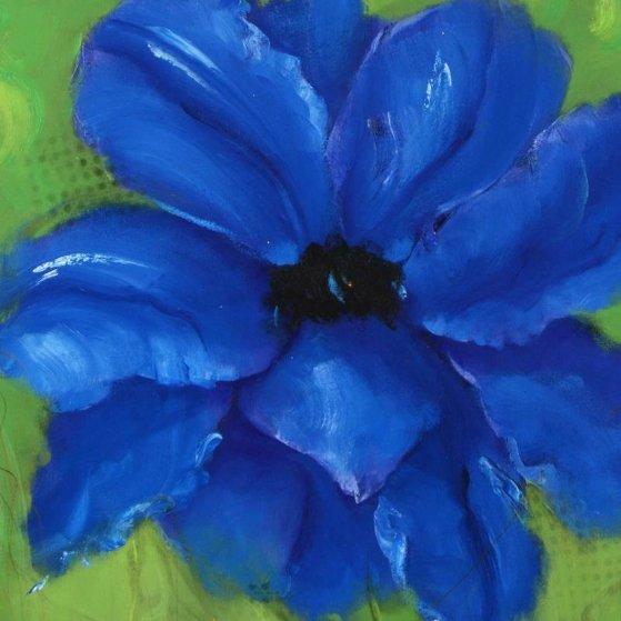 Di Blue 36x36 Original Painting by Victoria Montesinos