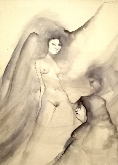 Self Portrait 1982 50x53 Super Huge  Watercolor - Victoria Montesinos