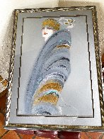 Deco Personality Embellished Super Huge Limited Edition Print by Victoria Montesinos - 2