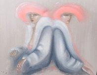 Friends 1982 53x63 Super Huge Original Painting by Victoria Montesinos - 2