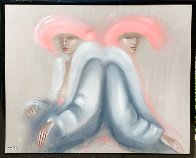 Friends 1982 53x63 Super Huge Original Painting by Victoria Montesinos - 1