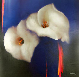 Royal Lilies 2008 Embellished Huge 40x60 Limited Edition Print - Victoria Montesinos