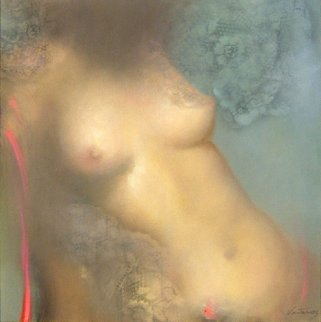 Nude 2005 30x30 Original Painting by Victoria Montesinos