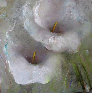 Laced Garden 2013 30x30 Original Painting - Victoria Montesinos