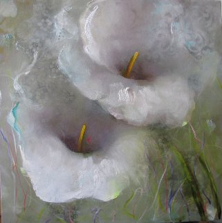 Laced Garden 2013 30x30 Original Painting by Victoria Montesinos