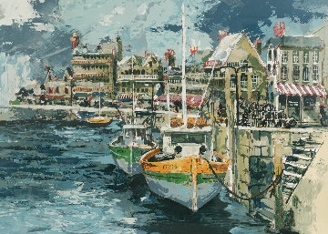 Brittany Cove, French Seaport Limited Edition Print by Wayland Moore