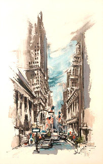 Wall Street AP Limited Edition Print by Wayland Moore
