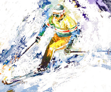 Skiing 1980 (Early) Limited Edition Print - Wayland Moore