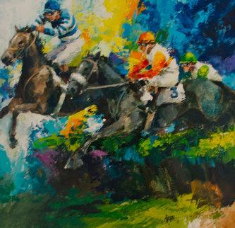 Jumpers 1976 32x32 Original Painting - Wayland Moore