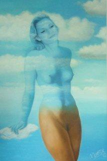 MMM (Moss, Magritte, Moore) 2017 71x45 Super Huge Original Painting - Gabriella  Moore