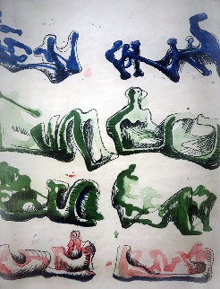 Untitled Lithograph 1967 Limited Edition Print - Henry Moore