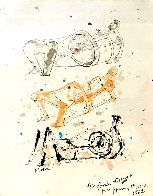 Three Reclining Figures 1962 12x10 Hand Signed Works on Paper (not prints) by Henry Moore - 0