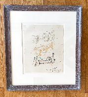 Three Reclining Figures Ink and Watercolor Drawing 1962 11x9 HS Works on Paper (not prints) by Henry Moore - 1