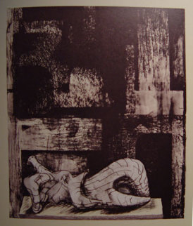 Architectural Background II 1977 Limited Edition Print by Henry Moore