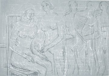 Group of Figures Limited Edition Print by Henry Moore