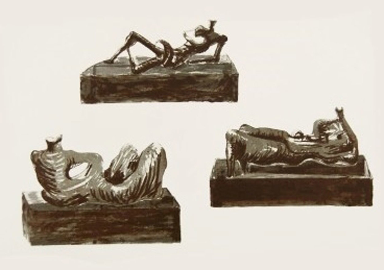 Three Reclining Figures  1976 Limited Edition Print by Henry Moore