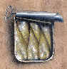 Sardines in a Can on Wood 2015 12x12 Original Painting by Victor Mordasov - 0