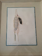Blackfoot Feather 1986 Limited Edition Print by Ed Morgan - 1