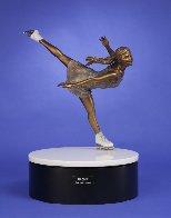 Ice Angel Bronze Sculpture 24 in Sculpture by Clyde Morgan - 1