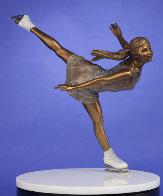 Ice Angel Bronze Sculpture 24 in Sculpture by Clyde Morgan - 0