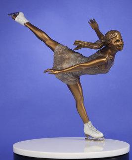 Ice Angel Bronze Sculpture 24 in Sculpture by Clyde Morgan
