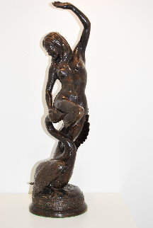 Leda And the Swan Bronze 1971  22 in Sculpture - Frank James Morgan
