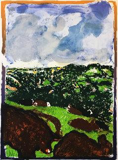 Devonshire Bullocks Limited Edition Print - Malcolm Morley