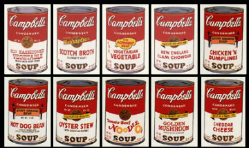 Sunday B. Morning, Campbel's Soup II suite of 10 Limited Edition Print - Sunday B. Morning