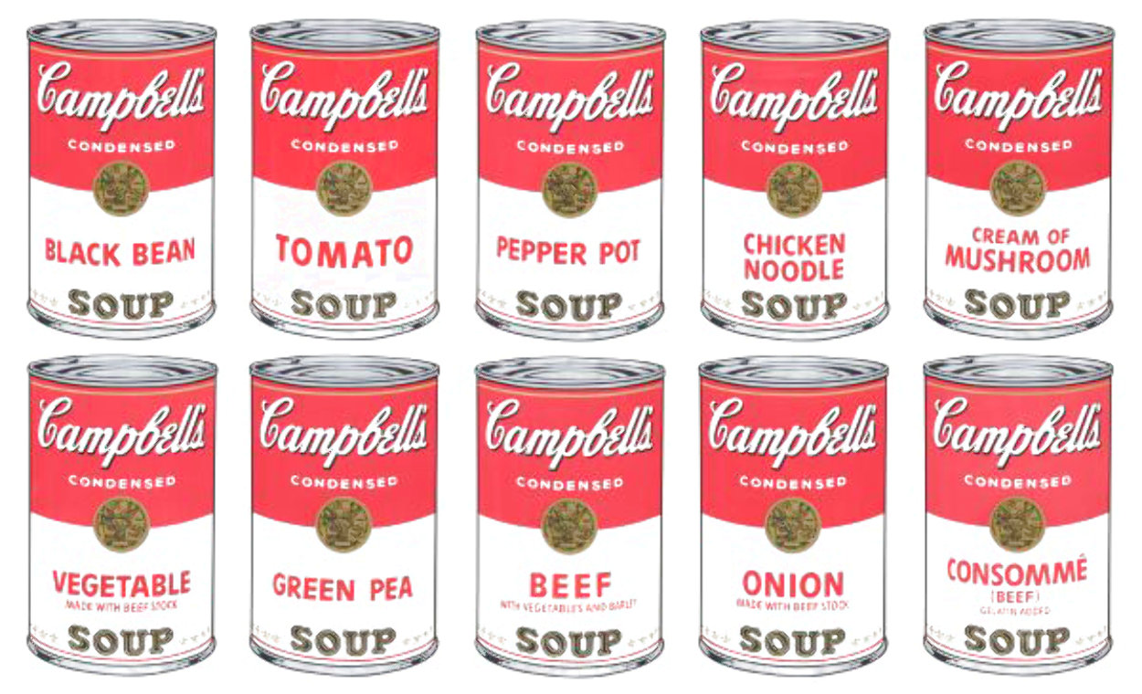 Campbells Soup Cans 1, Suite of 10 Screenprints Limited Edition Print by Sunday B. Morning