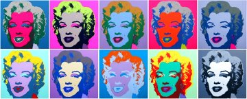 Marilyn Monroe Suite of 10 Silkscreens  Limited Edition Print - Sunday B. Morning