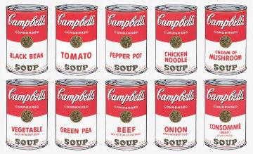 Campbells Soup Cans 1, Suite of 10 Screenprints Limited Edition Print - Sunday B. Morning