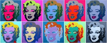 Marilyn Monroe Suite of 10 Silkscreens 2008 Limited Edition Print - Sunday B. Morning