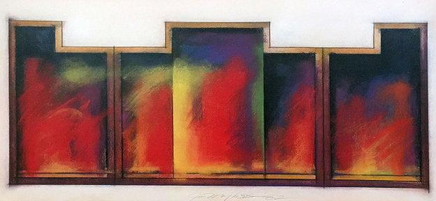 Colmar Variation #23 Pastel 1982 42x28 Works on Paper (not prints) by Jim Morphesis