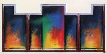 Colmar Variation #24 Pastel 1982 42x28 Works on Paper (not prints) - Jim Morphesis