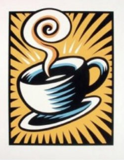 Coffee Cup 1998 Limited Edition Print - Burton Morris